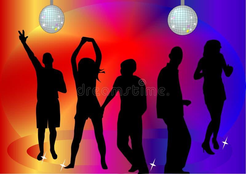 Dança dos povos no disco ilustração do vetor