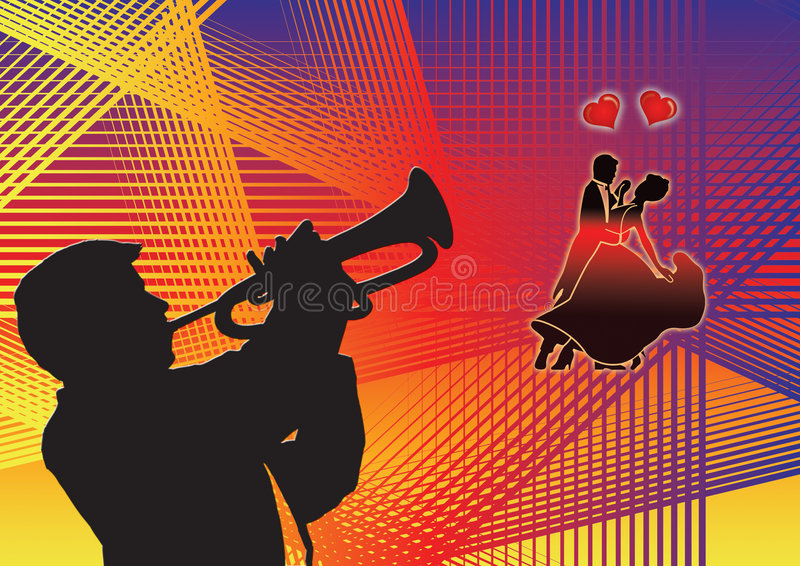 dança e música ilustração royalty free