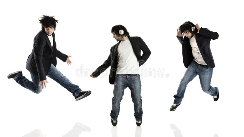 Dança e salto foto de stock royalty free
