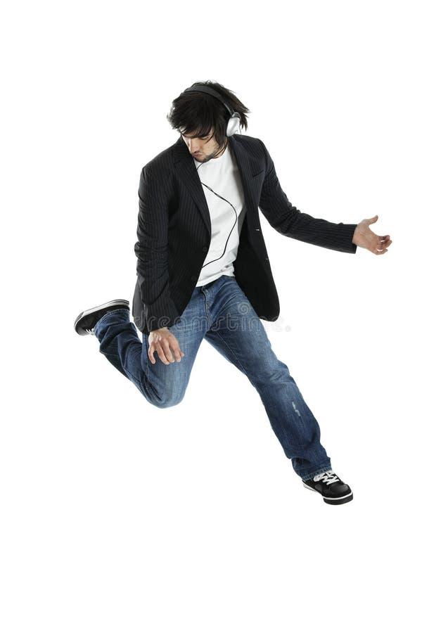 Dança e salto foto de stock