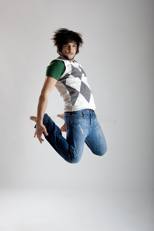 Dança e salto fotografia de stock royalty free
