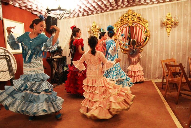 Dança em Sevilha imagem de stock