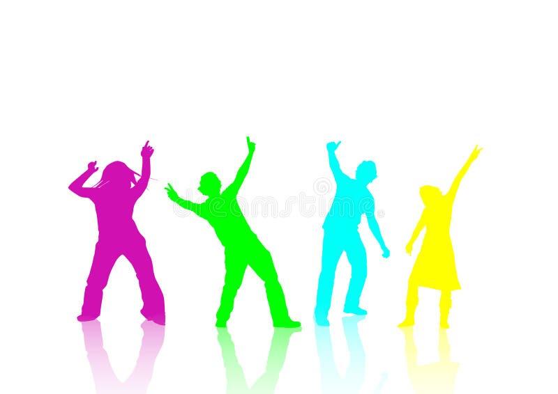 Dança em um partido ilustração do vetor