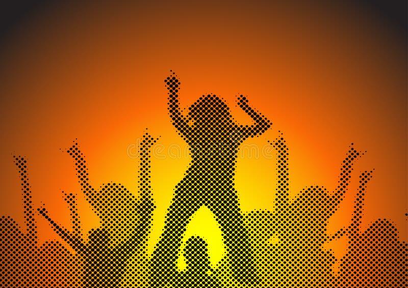 Dança em um partido ilustração stock