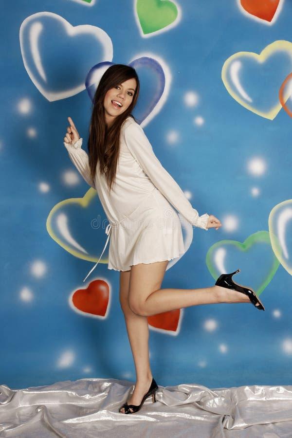 Dança esperta da forma da menina fotos de stock