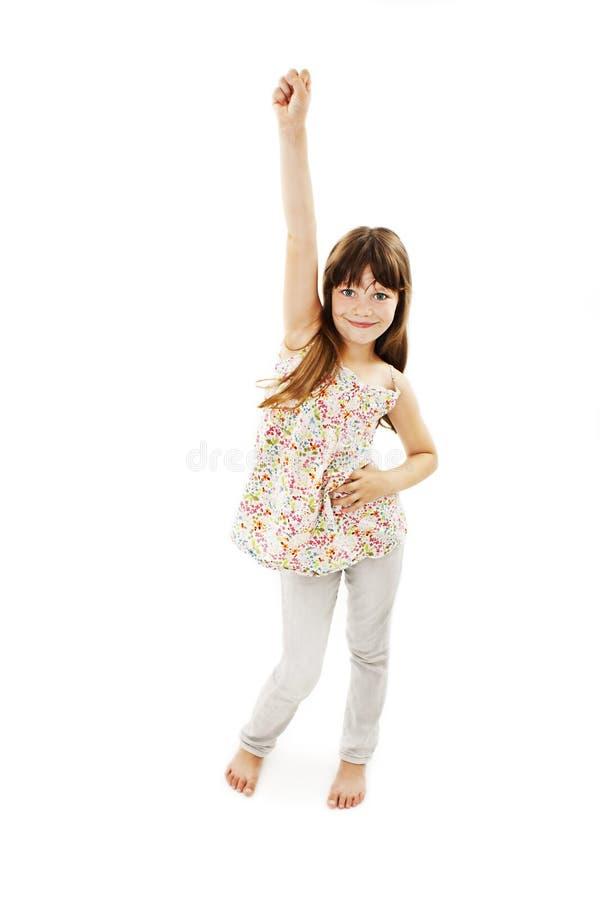 Dança feliz da menina fotografia de stock royalty free