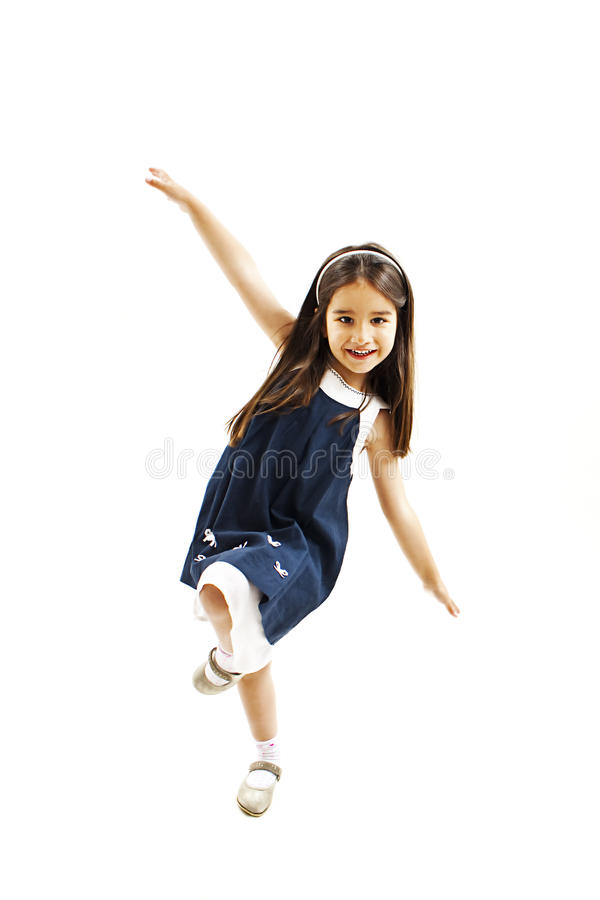 Dança feliz da menina foto de stock royalty free