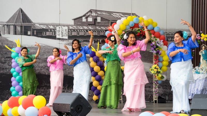 Dança filipino tradicional imagem de stock