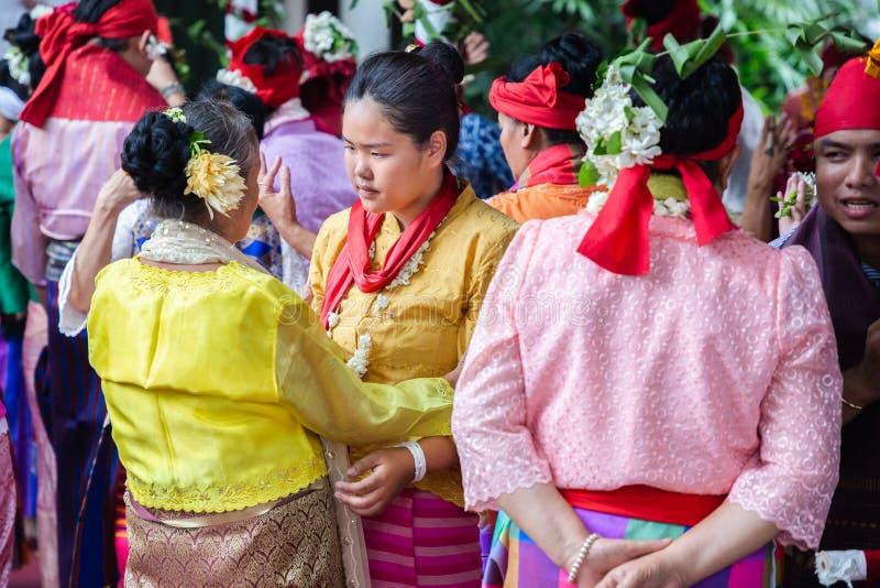 Dança Fon Phee do espírito a alma de povos de Lanna no norte de Tailândia imagem de stock royalty free