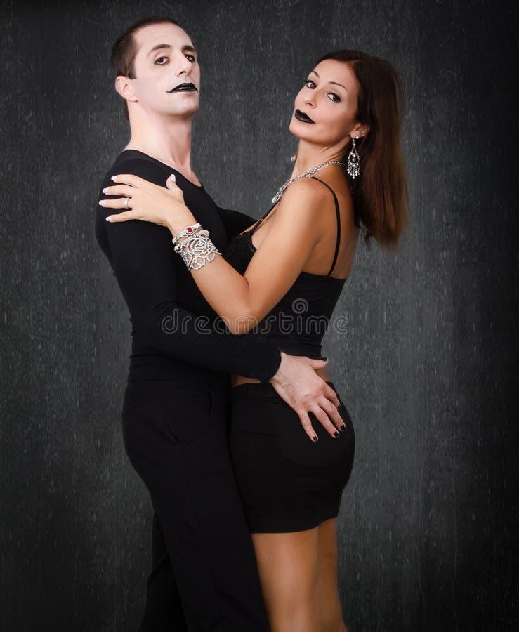 Dança gótico dos pares fotografia de stock royalty free