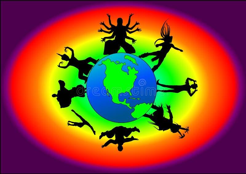 Dança global ilustração royalty free