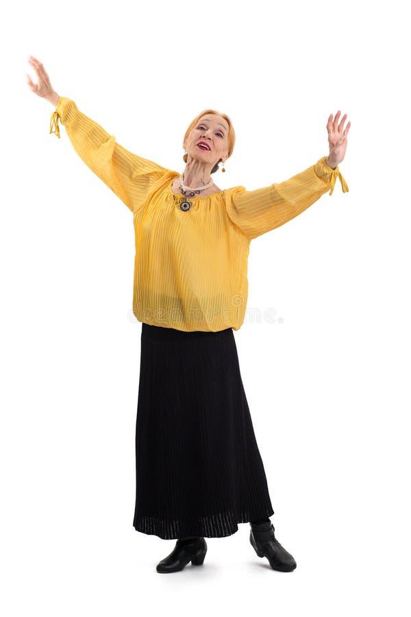 Dança idosa da mulher imagem de stock royalty free