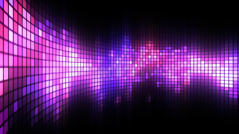 A dança magenta do diodo emissor de luz ilumina o fundo da parede ilustração stock