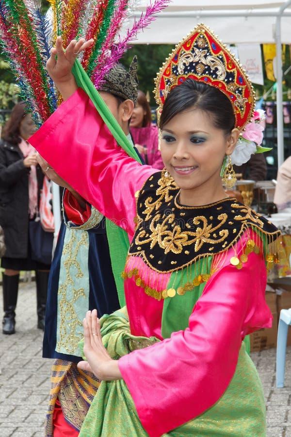 Dança malaia foto de stock royalty free