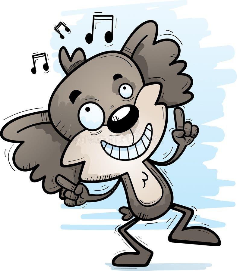 Dança masculina da coala dos desenhos animados ilustração stock