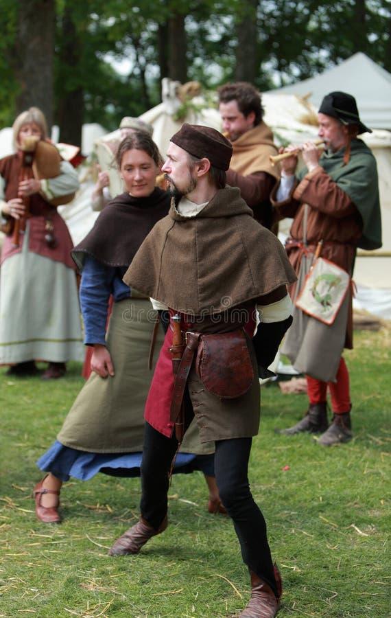 Dança Medieval Foto Editorial