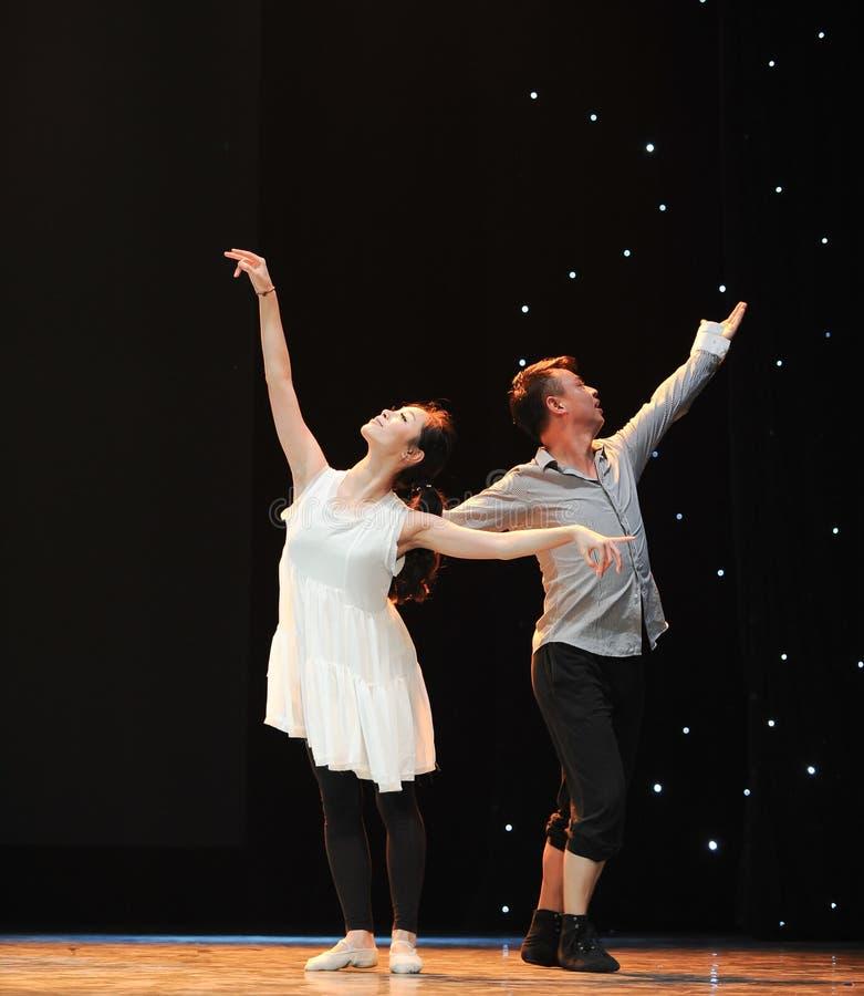 Dança moderna: amor imagem de stock