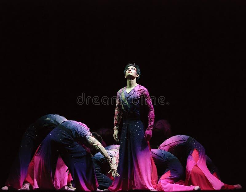 Dança moderna chinesa do grupo imagens de stock