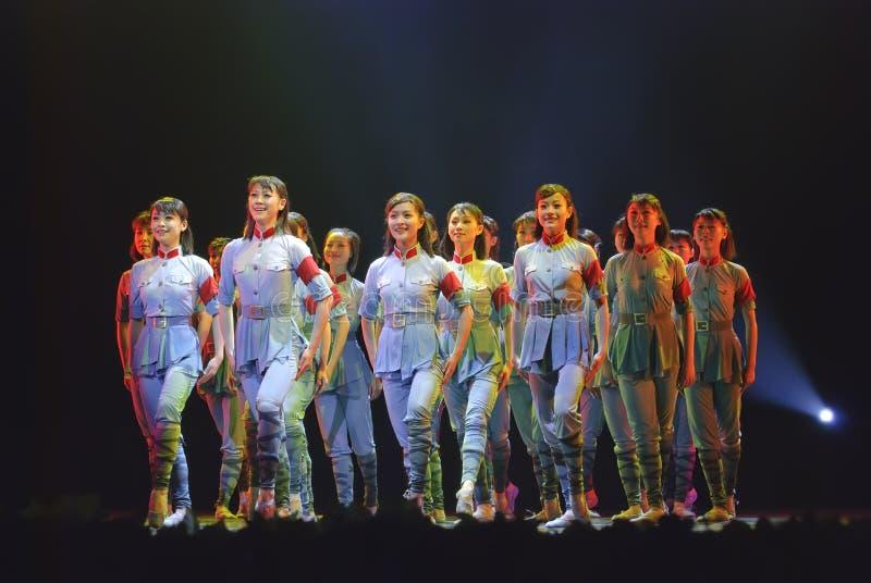 Dança moderna chinesa: Esse ano sacudiu-se foto de stock royalty free