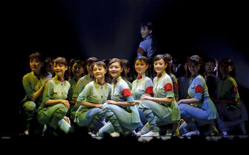Dança moderna chinesa: Esse ano sacudiu-se fotografia de stock royalty free