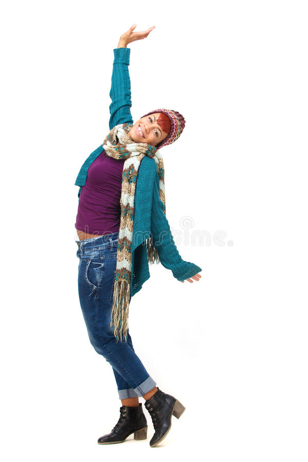 Dança moderna do divertimento africano novo da menina imagens de stock royalty free