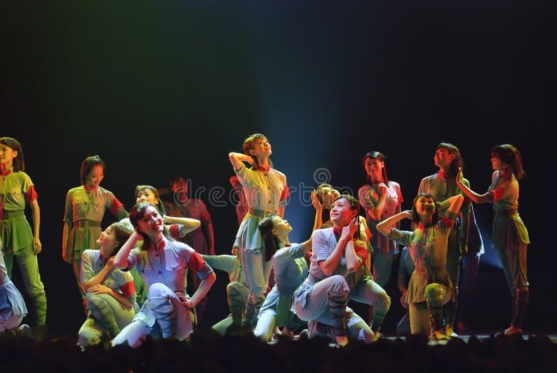 Dança moderna do grupo imagem de stock