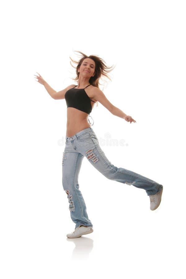 Dança moderna do jazz fêmea novo da dança imagem de stock royalty free