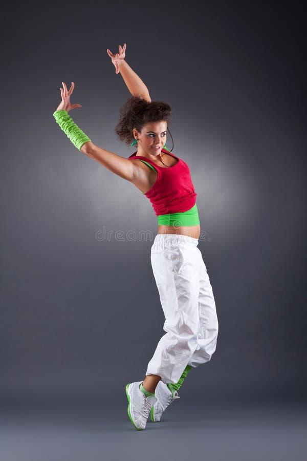 Download Dança moderna no estúdio foto de stock. Imagem de aerobics - 16865738