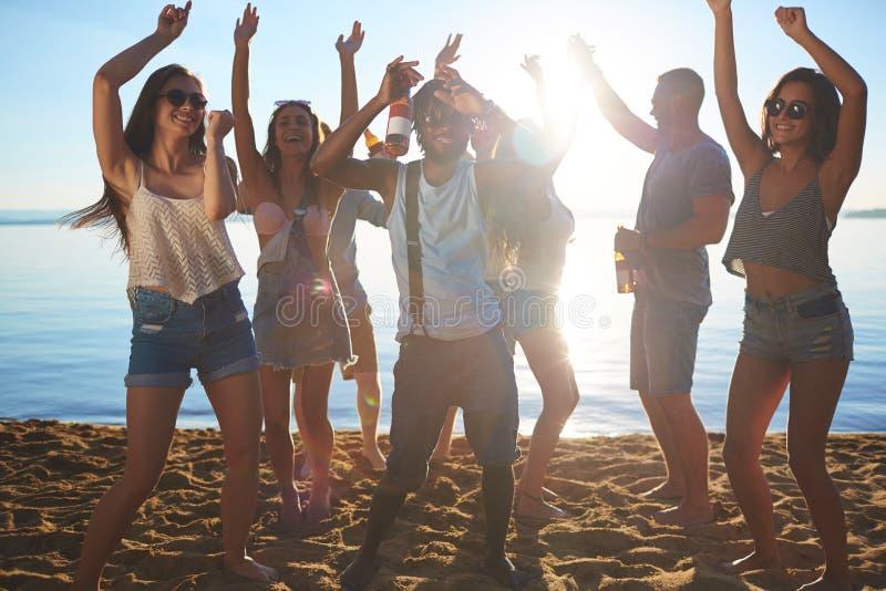 Dança na areia fotografia de stock