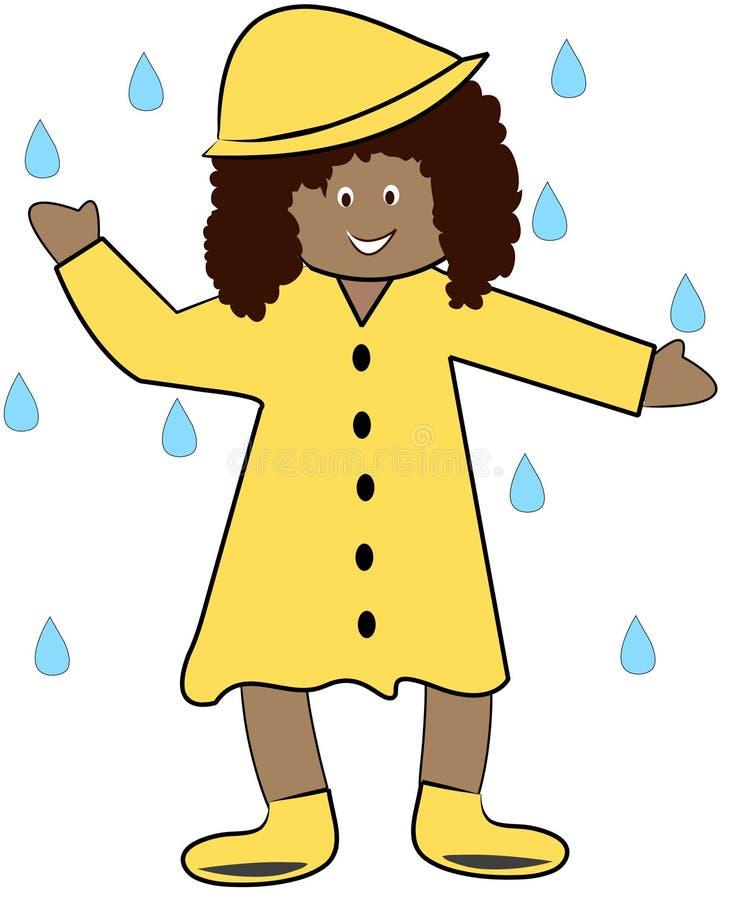 Dança na chuva ilustração stock