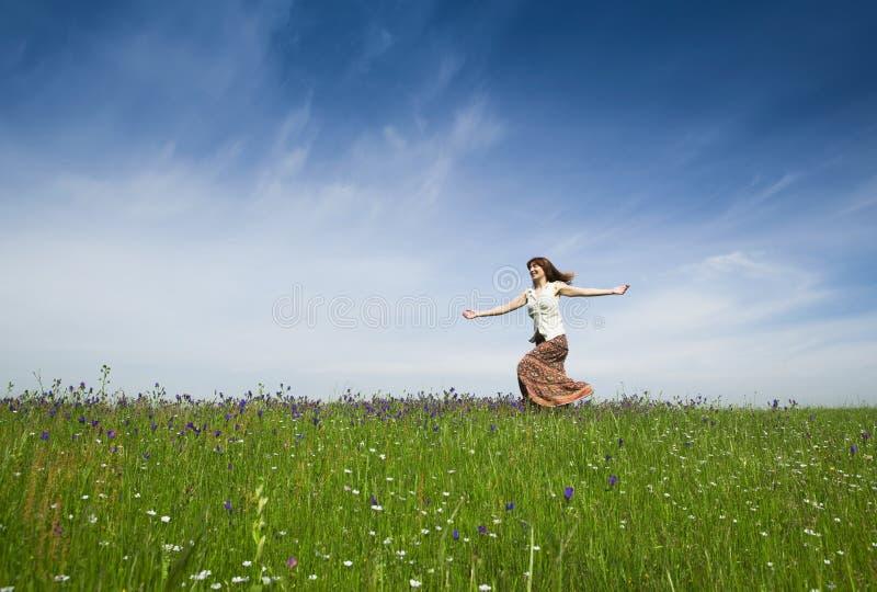 Dança na natureza imagens de stock royalty free