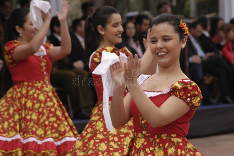 Dança nacional do Chile fotografia de stock royalty free