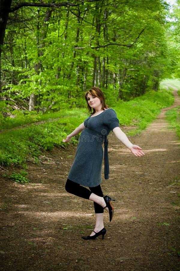 Download Dança nas madeiras imagem de stock. Imagem de país, fora - 12807495