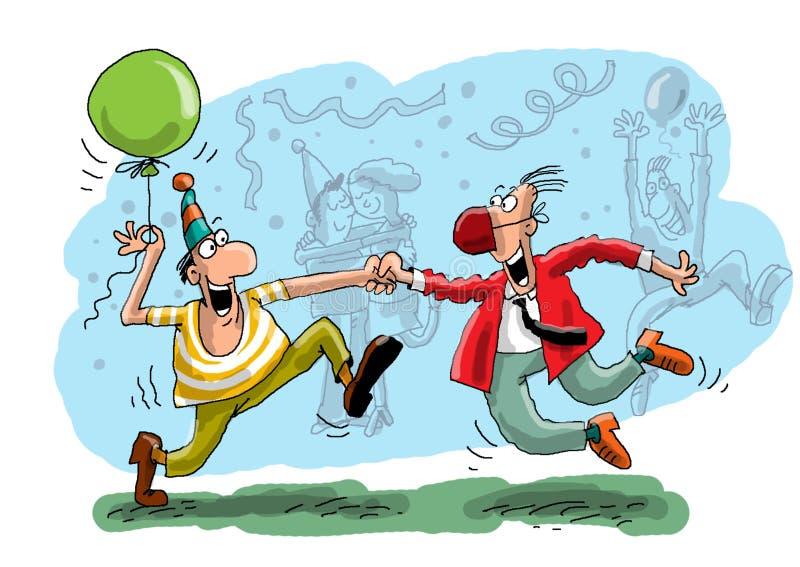 Dança no disco ilustração do vetor