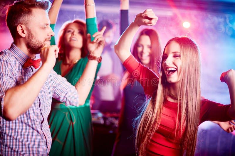 Dança no grupo fotografia de stock royalty free