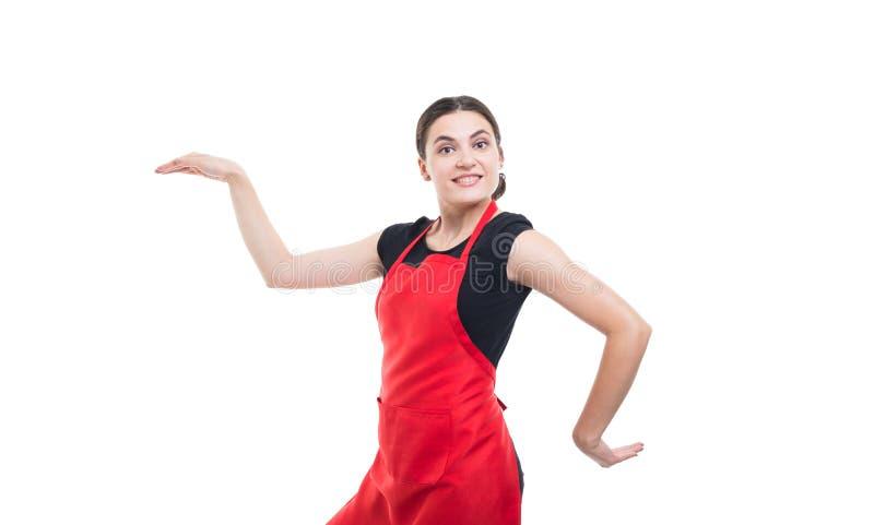 Dança nova alegre do caixeiro engraçada imagens de stock royalty free