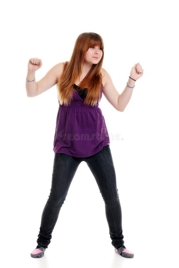 Dança nova do adolescente imagem de stock