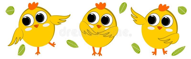 Dança pequena da galinha três ilustração do vetor