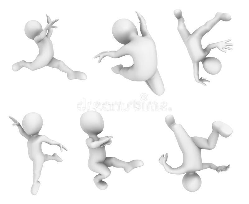 dança pequena dos povos 3d ilustração do vetor