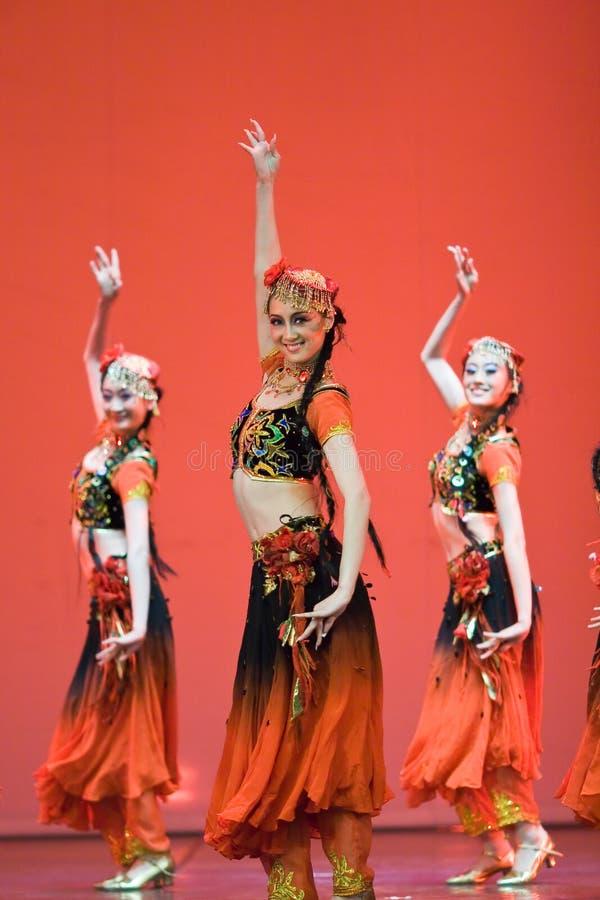 Dança popular chinesa imagem de stock