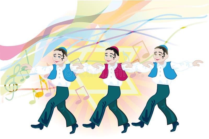 Dança popular judaica ilustração royalty free