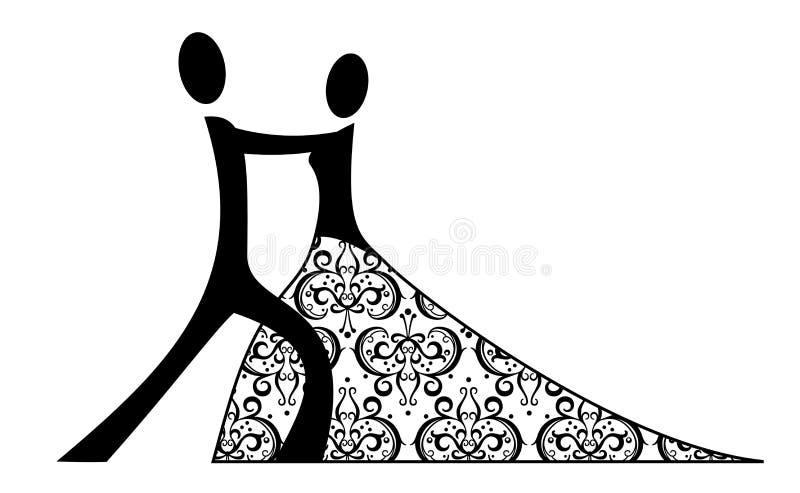 A dança romântica ilustração royalty free