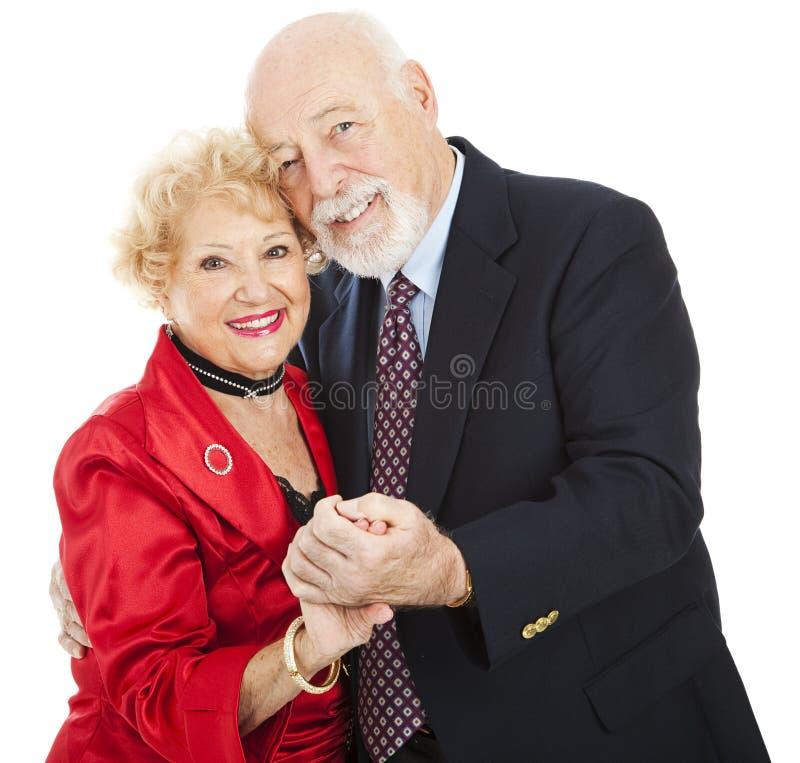 Dança sênior romântica imagem de stock royalty free