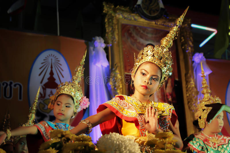 Dança tailandesa foto de stock