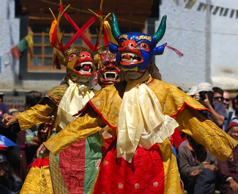 Dança tibetana fotografia de stock royalty free