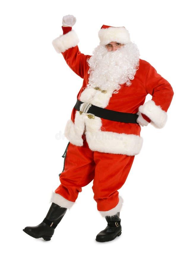 Dança tradicional de Santa Claus, dança engraçada fotografia de stock