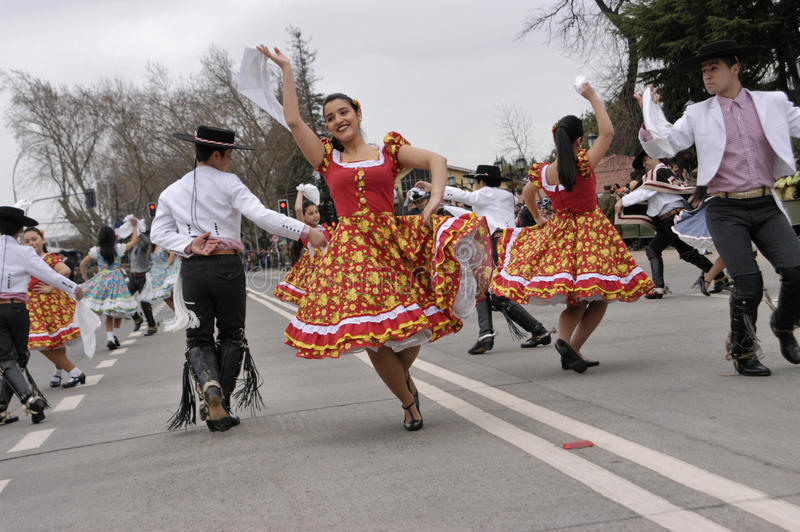 Dança tradicional do Chile foto de stock