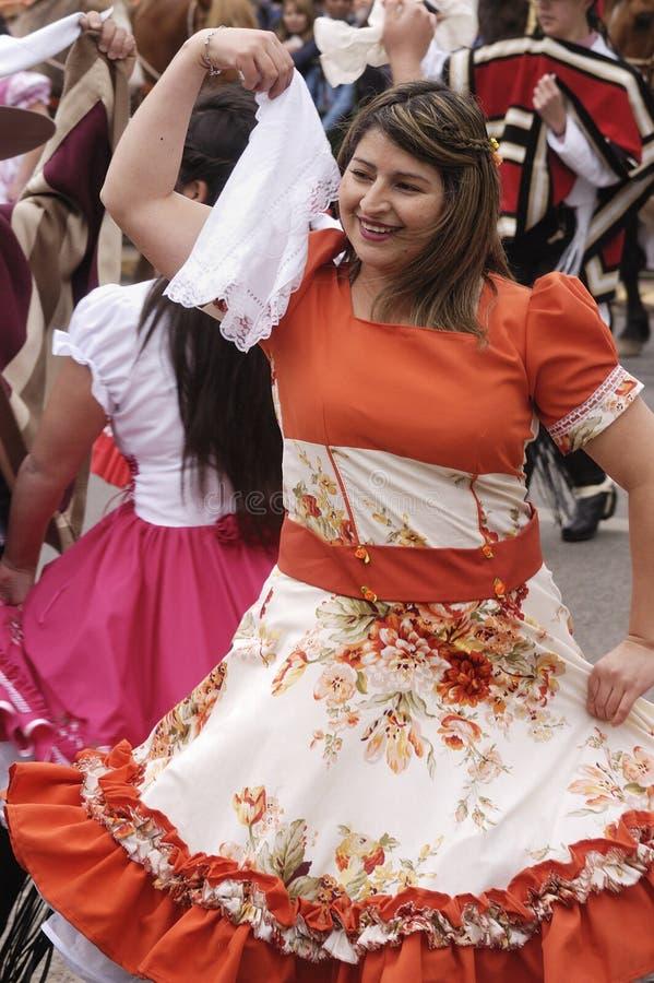 Dança tradicional do Chile fotografia de stock royalty free