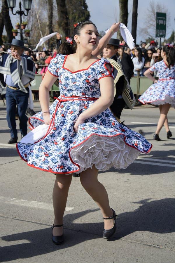 Dança tradicional no Chile fotos de stock