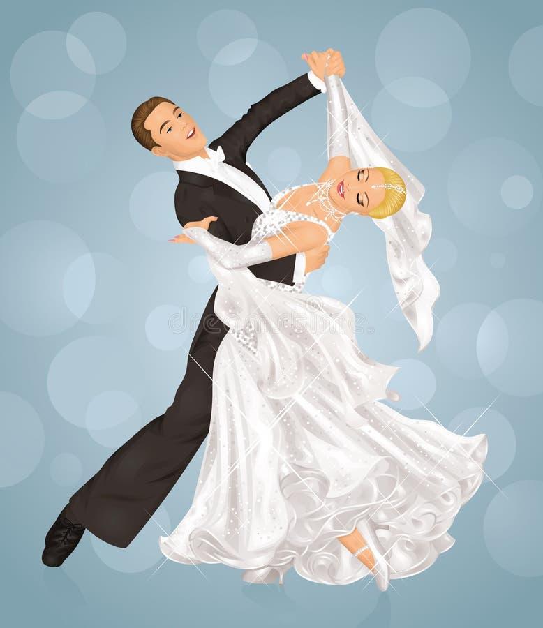 Dança Wedding. ilustração stock
